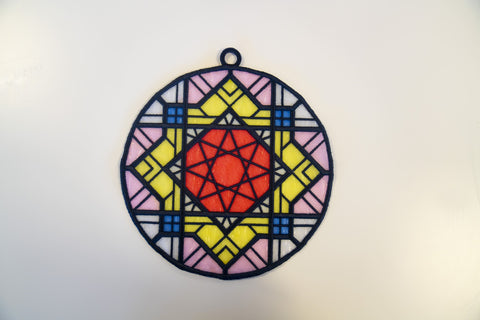 free standing lace stained glass