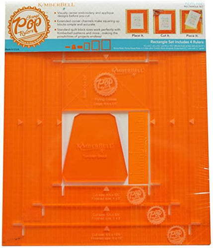 Kimberbell, Orange Pop Rulers, Rectangle Set (KDTL102) - Myers Sewing