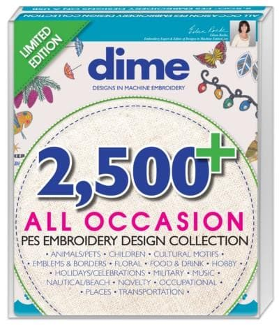 DIME, 2,500 + All Occasion PES Embroidery Design Collection (AOUSB) - Myers Sewing