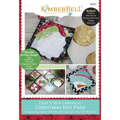 Kimberbell, That's Sew Chenille: Christmas Hot Pads (KD547) - Myers Sewing