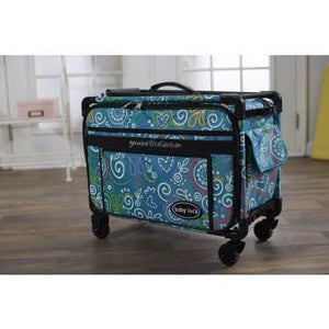 "Genuine Baby Lock Accessory, 22"" Large Machine Trolley on Wheels - Genuine Sewing Blue (5222GMA-TY) - Myers Sewing"