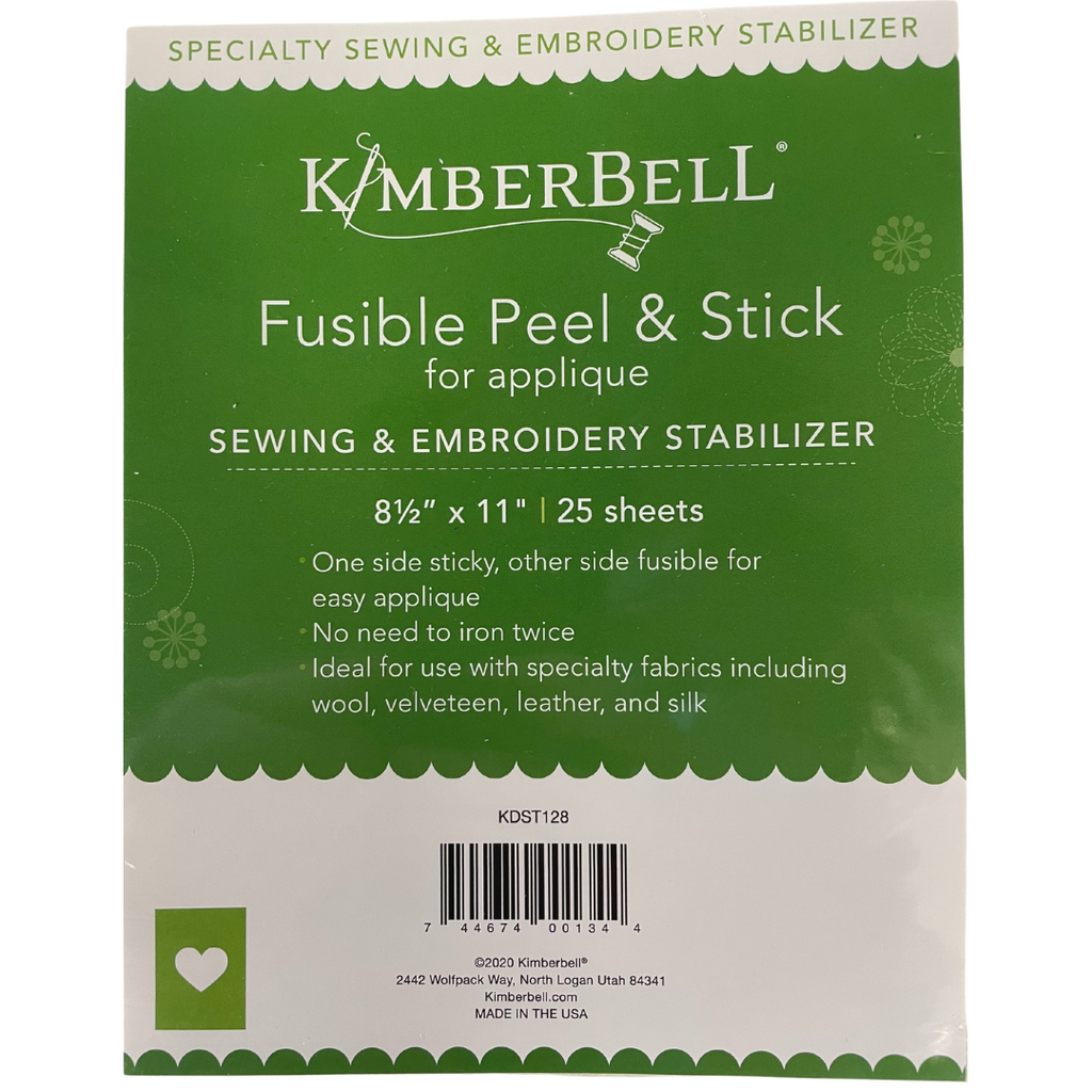 "Kimberbell, Fusible Peel & Stick | 8 1/2"" x 11"" (25 sheets) (KDST128) - Myers Sewing"