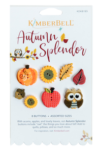 Kimberbell, Autumn Splendor Buttons (KDKB185) - Myers Sewing