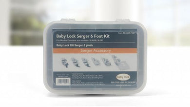 Genuine Baby Lock Accessory, 6 Piece Serger Foot Kit (BL460B-FEET) - Myers Sewing