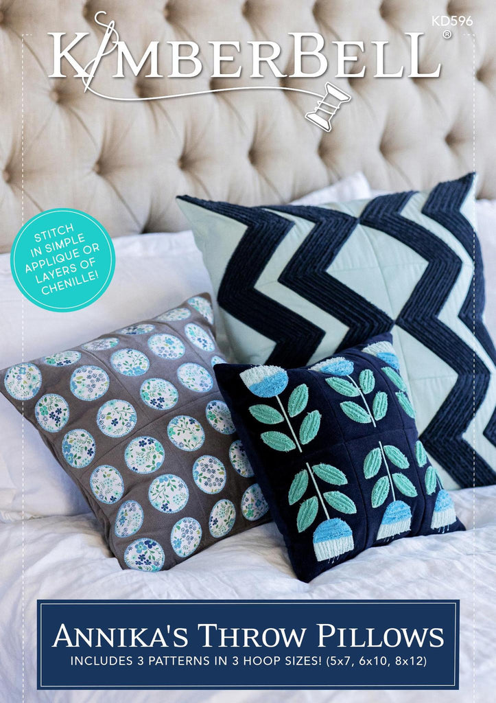 Kimberbell, Annika's Throw Pillows machine embroidery (KD596) - Myers Sewing