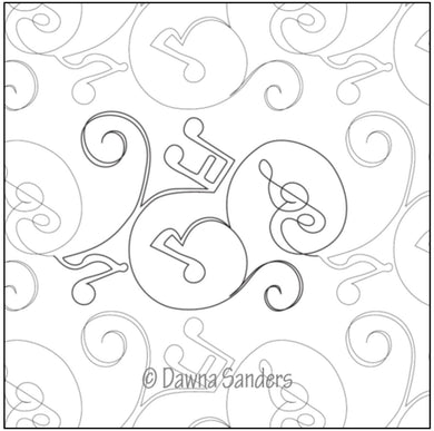 Dawna's Designs, Pantograph: Twinkling Song (11PANTS002) - Myers Sewing