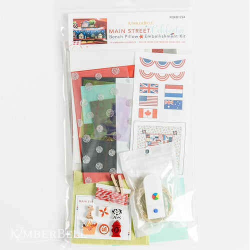 Kimberbell, Main Street Celebration Bench Pillow Embellishment Kit (KDKB1243)