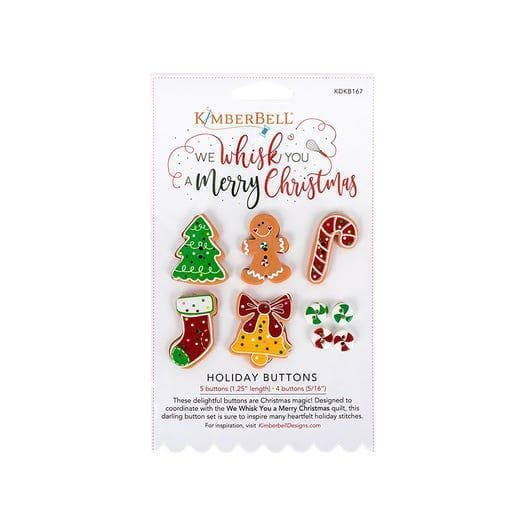 Kimberbell, We Whisk You a Merry Christmas Holiday Buttons (KDKB167) - Myers Sewing