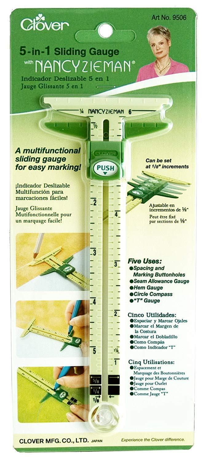 Clover, 5 in 1 Sliding Gauge (CL9506) - Myers Sewing