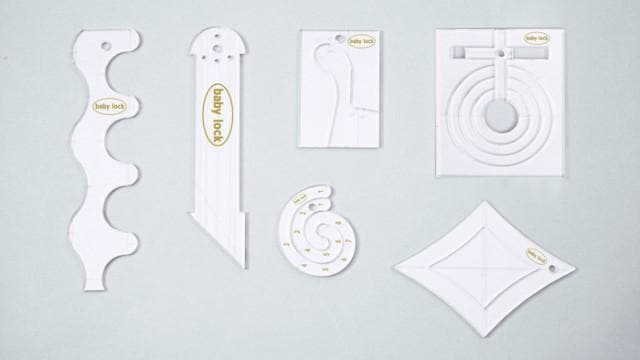 Genuine Baby Lock Accessory, Ruler Work Kit - High Shank / Long Arm (BLRK-HSLA) - Myers Sewing