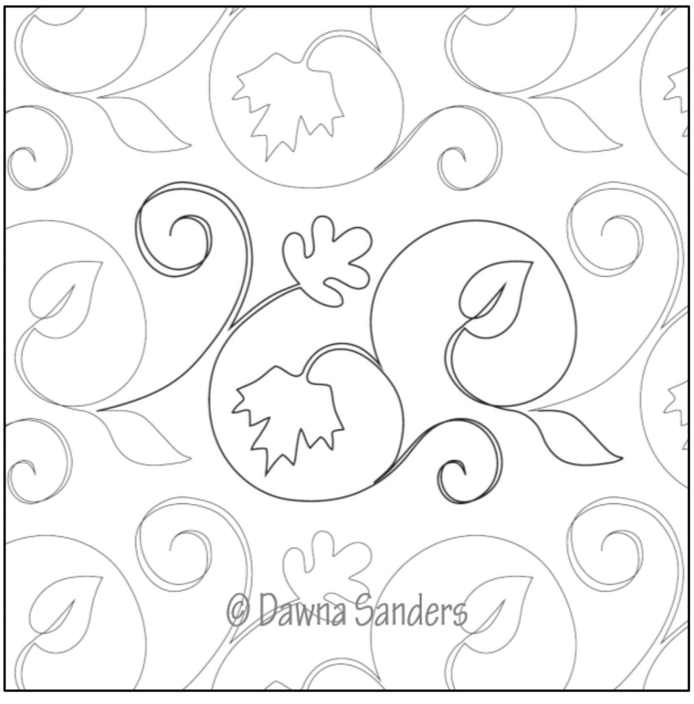 Dawna's Designs, Pantograph: Twinkling Leaves (11PANTL001) - Myers Sewing