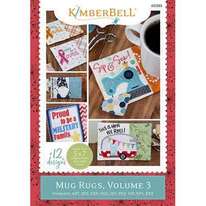 Machine Embroidery CD: Kimberbell's Holiday & Seasonal Mug Rugs, Vol 3 (KD585) - Myers Sewing