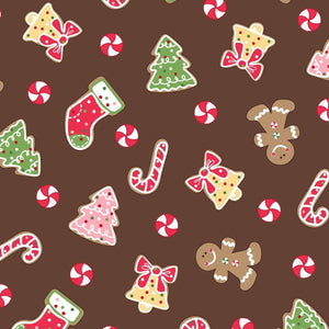 Kimberbell Fabric: Brown, Novelty (MAS9671-A)