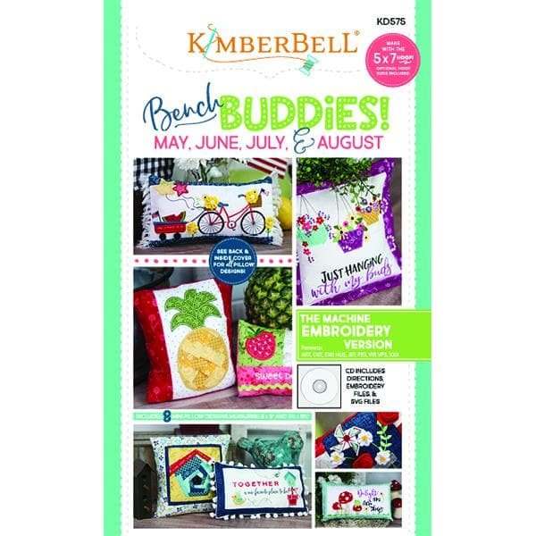 Kimberbell, Bench Buddies! (May, June, July, August) Machine Embroidery CD (KD575) - Myers Sewing