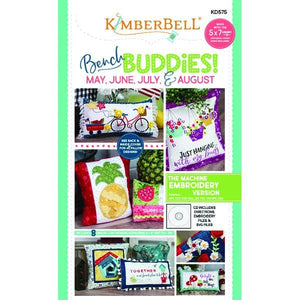 Bench Buddies! (May, June, July, August) Machine Embroidery CD (KD575)