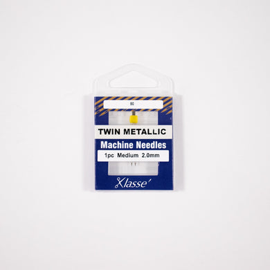 Klasse, Twin Metallic Machine Needles (AA5159.0#0) - Myers Sewing