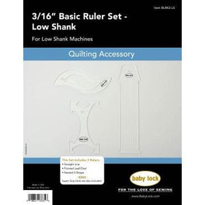 "Genuine Baby Lock Accessory, 3/16"" Basic Ruler Set - Low Shank (BLRK2-LS) - Myers Sewing"