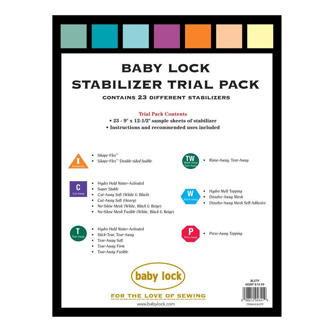 Genuine Baby Lock Accessory, Stabilizer Trial Pack (BLSTP) - Myers Sewing