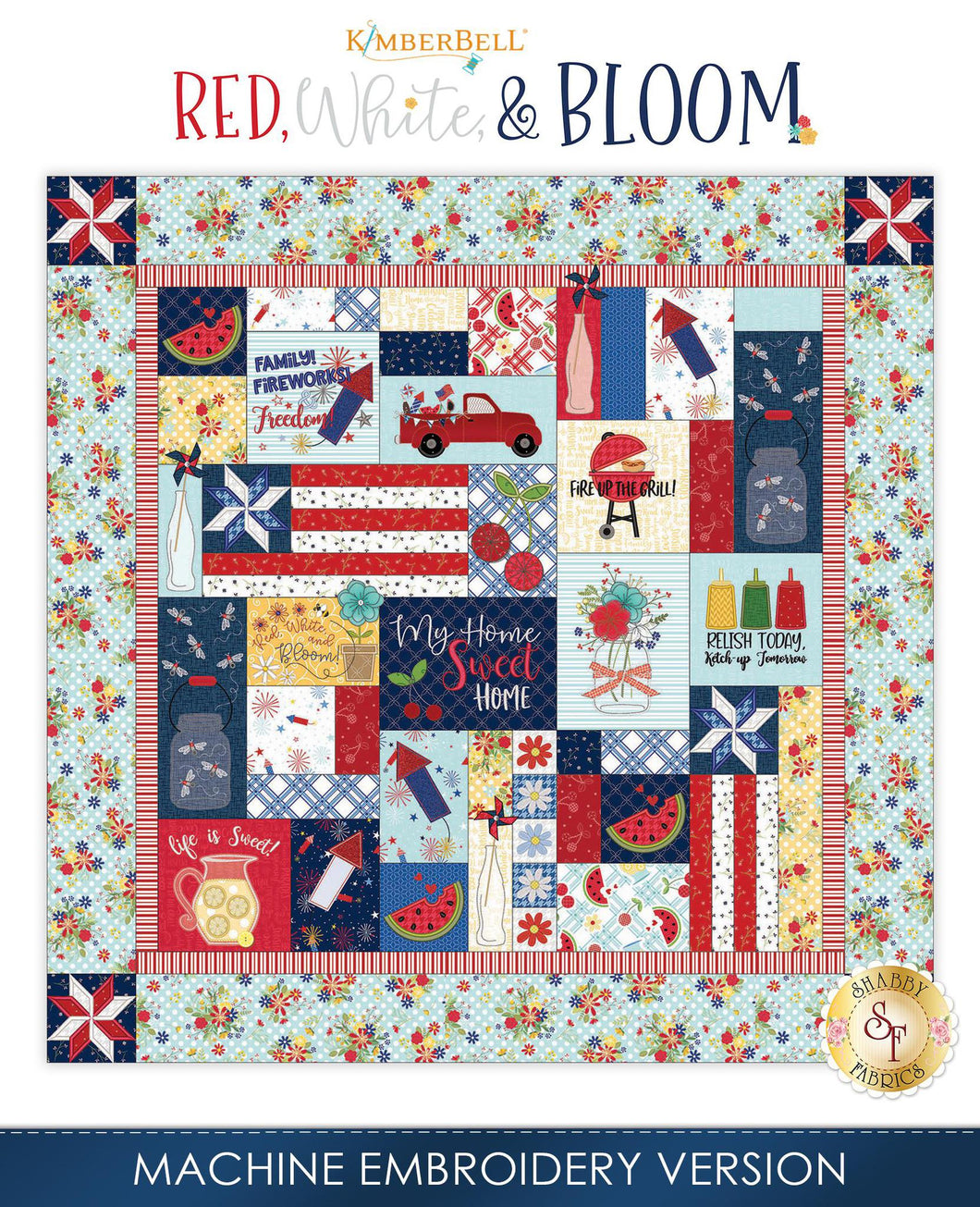 Kimberbell, Red White and Bloom - Machine Embroidery (KD809) - Myers Sewing