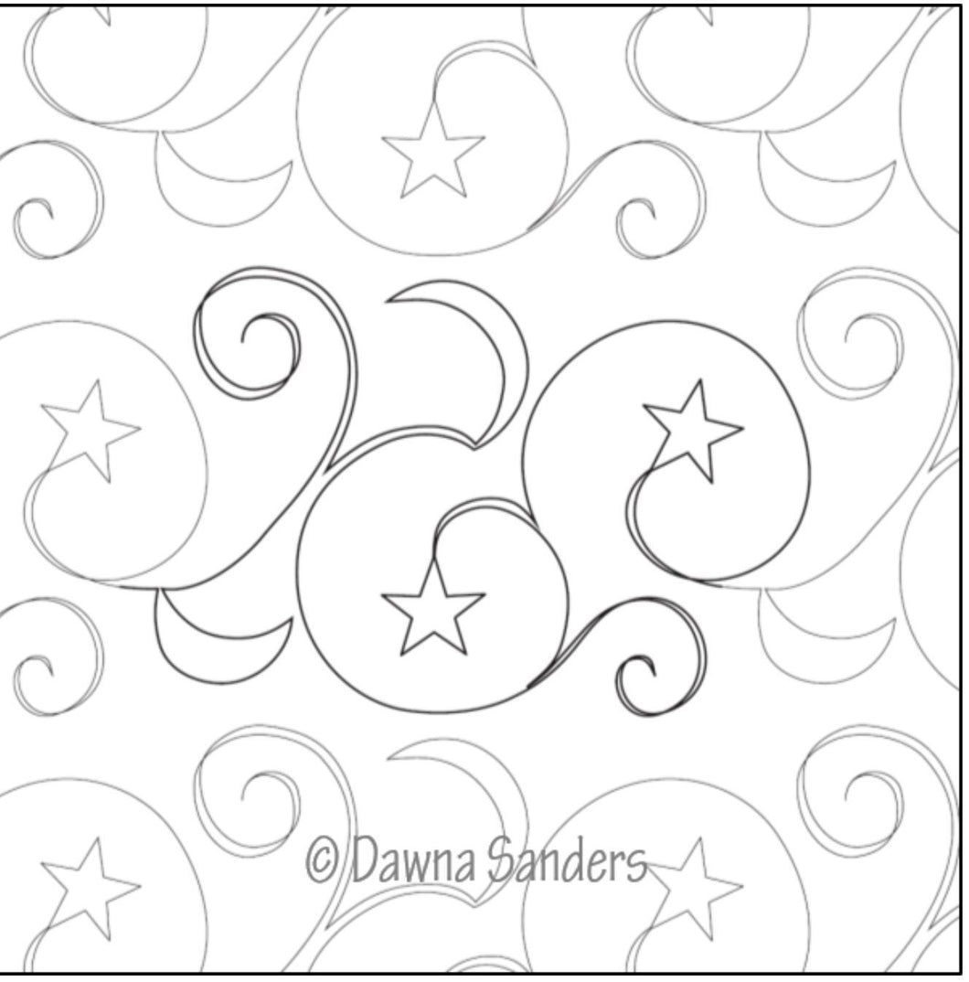 Dawna's Designs, Pantograph: Twinkling Night Sky (!!PANTNS001) - Myers Sewing