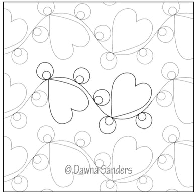Dawna's Designs, Pantograph: Polka Dot Hearts (15PANPD002) - Myers Sewing