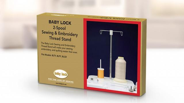Genuine Baby Lock Accessory, 2-Spool Sewing and Embroidery Thread Stand (BLMA-STS) - Myers Sewing
