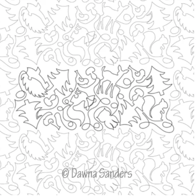 Dawna's Designs, Pantograph: Forest Friends (15PANFF002) - Myers Sewing