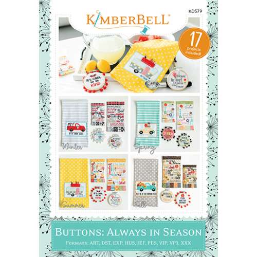 Kimberbell, Buttons: Always in Season (KD579) - Myers Sewing