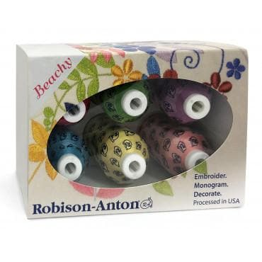 Robison-Anton Polyester Mini King 6 Spool Gift Pack of Threads (KT###) - Myers Sewing