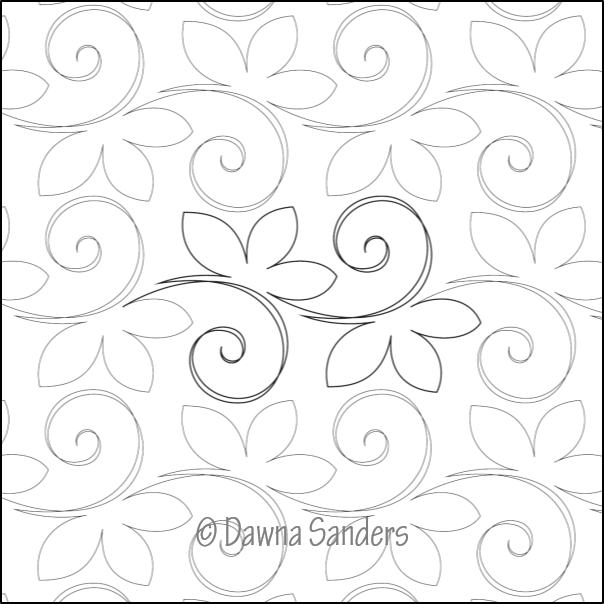 Dawna's Designs, Pantograph: Lily of the Valley (11PANLV001) - Myers Sewing