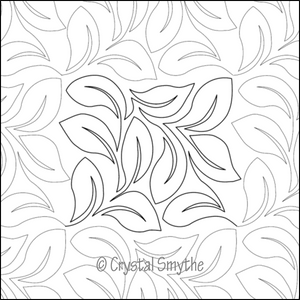 Dawna's Designs, Pantograph: Crystal's Lovely Leaves (15PANCL001) - Myers Sewing