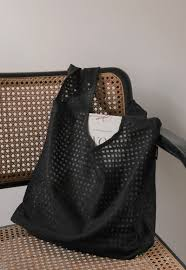 Square Mesh Bag (Black) l Junes