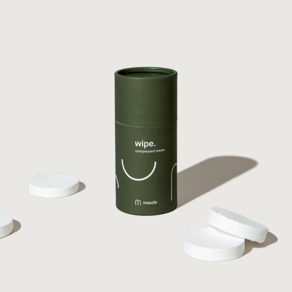 Wipe | hypoallergenic, compostable compressed towels