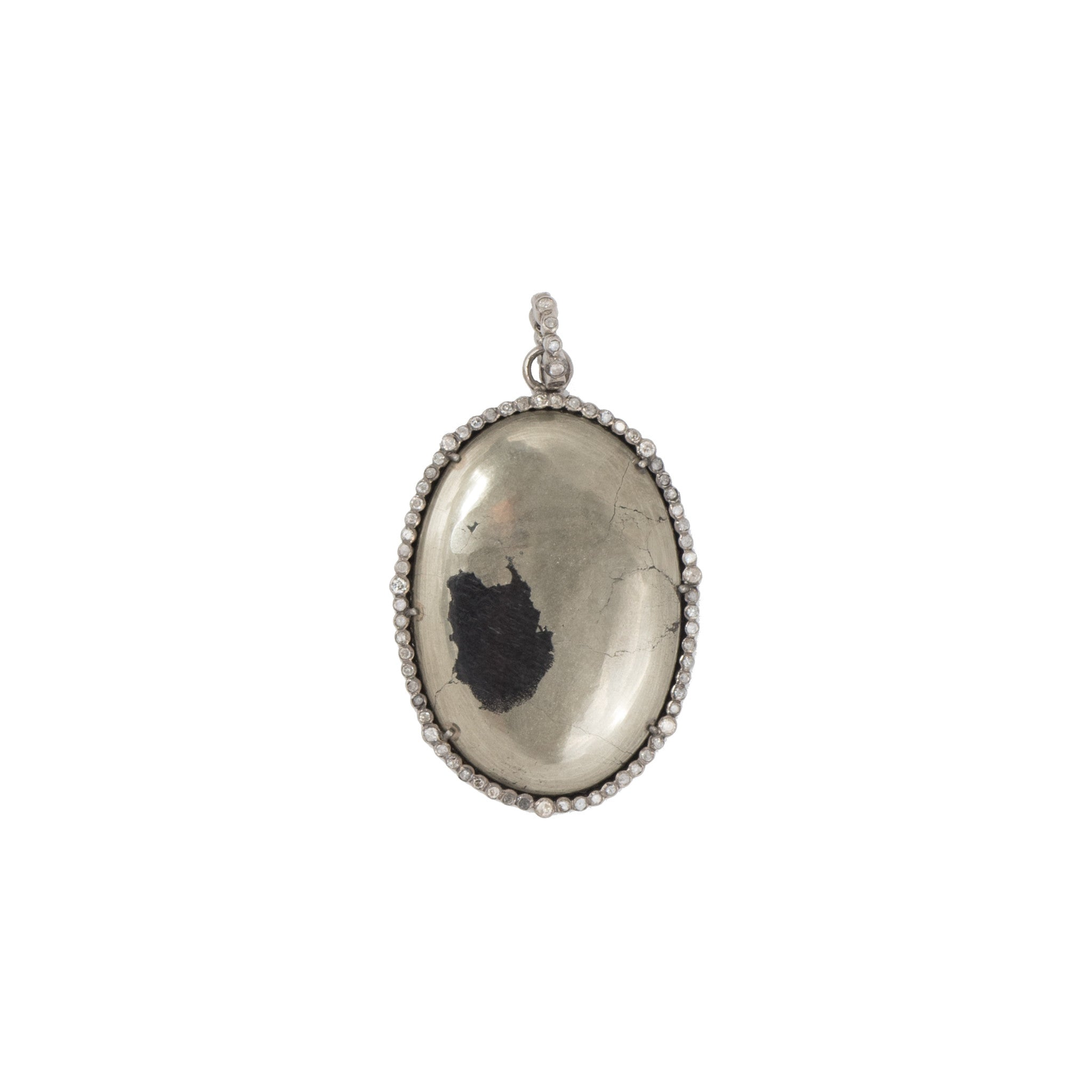 Stone Pyrite Oval