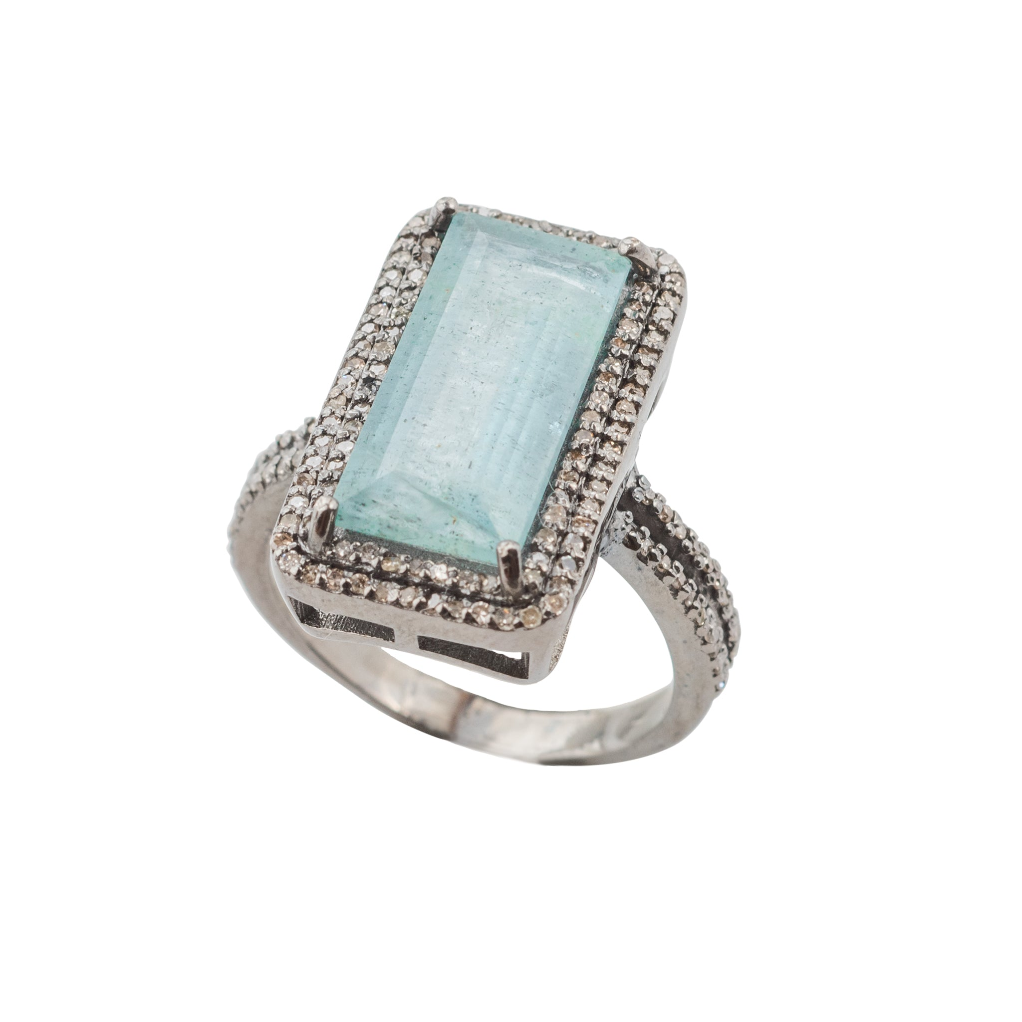 Aquamarine Blue Ring