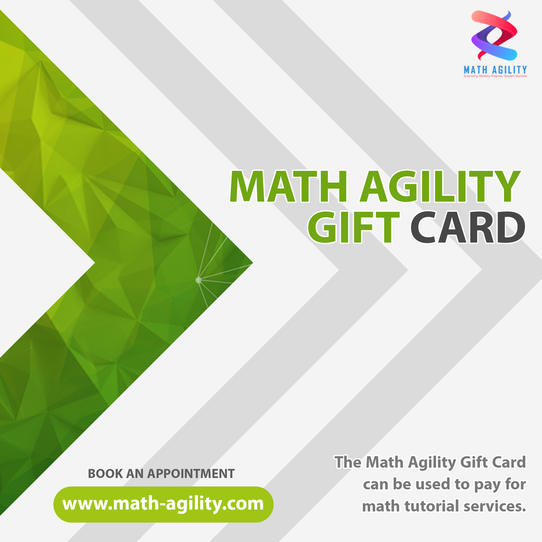 Math Agility Gift Card