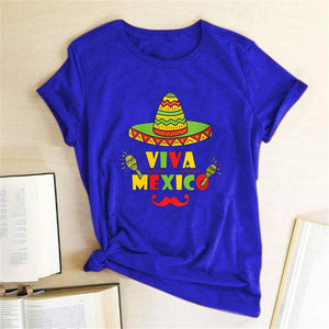 Camiseta mexicana Independence Day camiseta de mujer