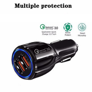 Car phone charger  quick charge 3.0