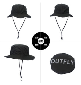 Letter  Embroidery Bucket Hat Fisherman Hats Outdoor Quick Dry Fisherman Hat Summer Sun Hat Men and Women