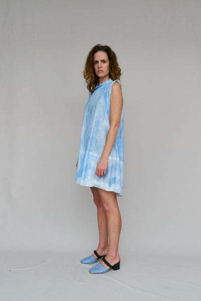 W35T BY NICOLA WEST, BOXY, EXPOSED ARM HOLE, COTTON, SIZE MOST, ROMANCE,  DRESS,  HAND PAINTED,  END OF RUN,  COOL,  GOOD SPORT,  KICK BACK,  LOUNGE,  COMFORTABLE