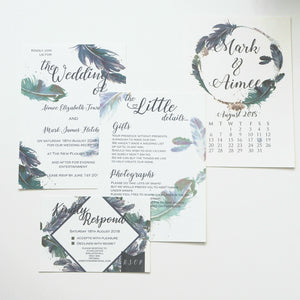 Forever Feather Invitation Collection