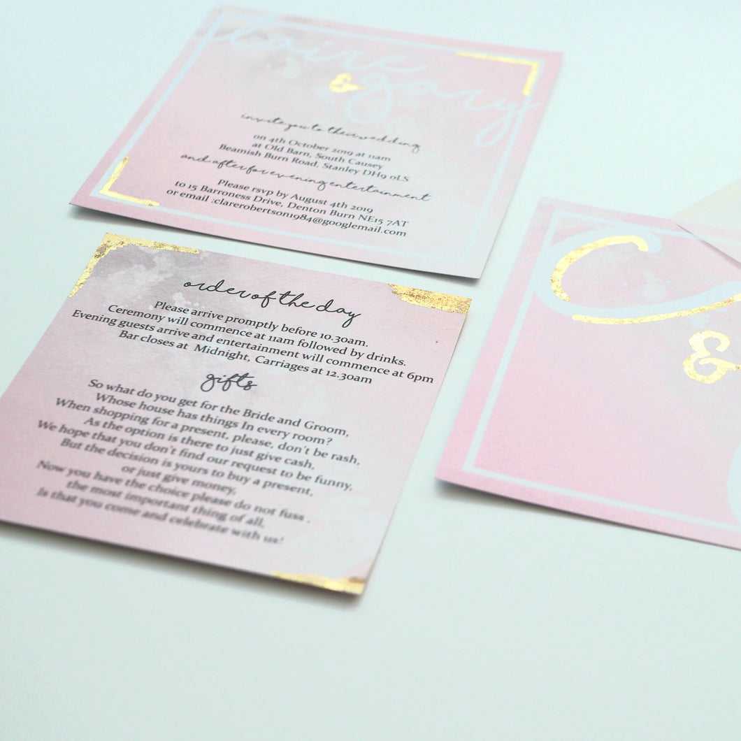 Blush Foiled Invitation Collection
