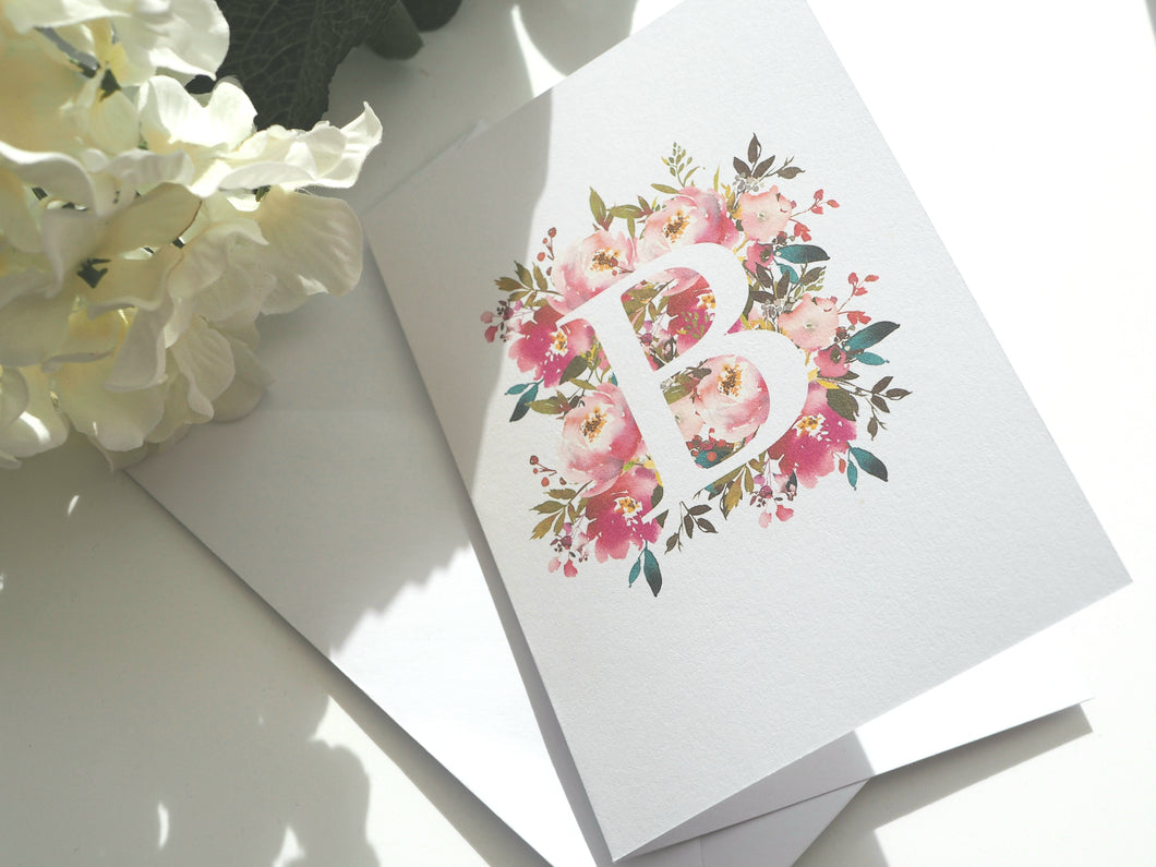 Summer Monogram - Greeting Card