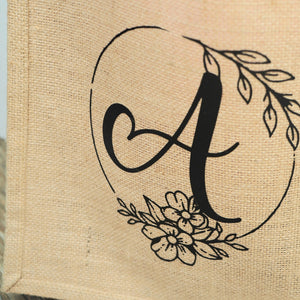 Custom Monogram Jute Bag
