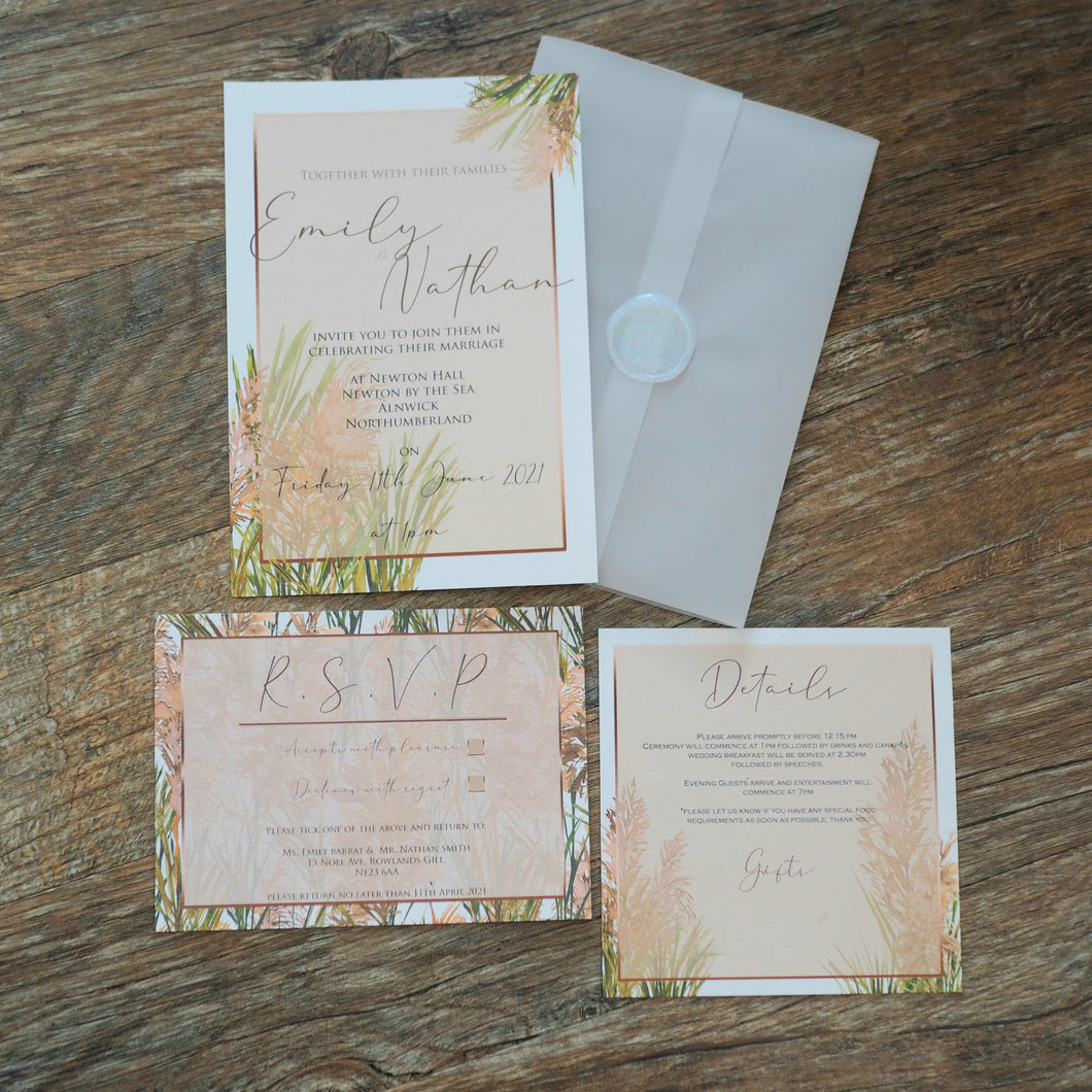 Pampas Grass Invitation Collection