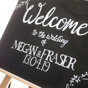 Chalkboard Sign- Welcome
