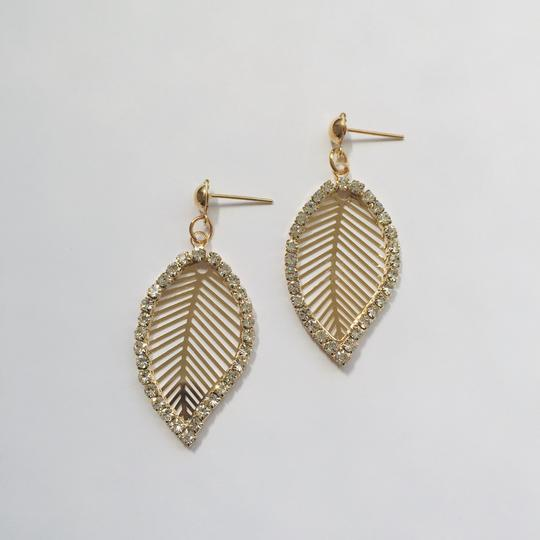 Leaf Diamante Earrings - Kimberley's Store