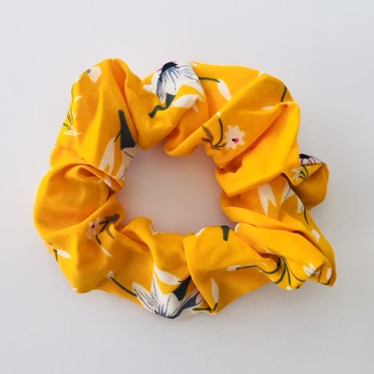 Lisa Yellow Floral Scrunchie - Kimberley's Store