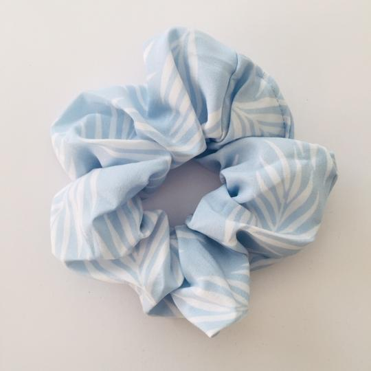 Island Light Blue and White Scrunchie - Kimberley's Store