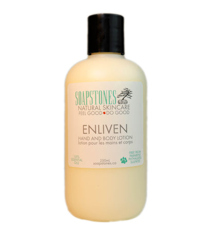 Enliven Hand and Body Lotion - Soapstones Natural Skincare